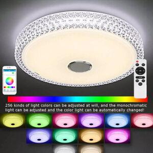 LED Deckenleuchte mit Dimmbar Fernbedienung, 36W RGB Musik Farbwechsel Ø40cm