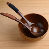 New Kitchen Cooking Utensil Japanese Soup Coffee Dessert Wooden Spoon~