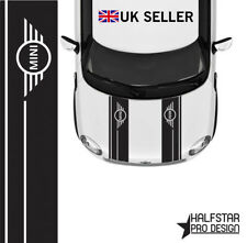 MINI COOPER LOGO BONNET STRIPES CAR VINYL GRAPHICS/ DECALS STICKERS