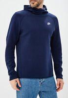 Nike Sportswear Tech Fleece Hoodie New Obsidian Blue White Men 928487-451