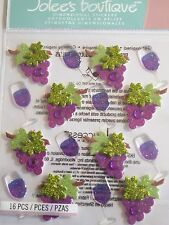 JOLEE'S BOUTIQUE WINE GLASS AND GRAPES REPEATS Scrapbook Stickers Embellishment