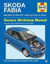 SKODA Fabia 1.2 1.4 Gasolina & 1.4 1.6 1.9 Diesel Haynes Manual 6033 de mayo de 2007-2014