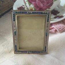 ANTIQUE VINTAGE ITALIAN MICROMOSAIC GLASS TILE MICRO MOSAIC OLD GOLD PHOTO FRAME