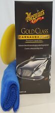 Meguiars Gold Glass Carnauba Plus Liquid Wax 473ml With Cloth And Applicator Pad