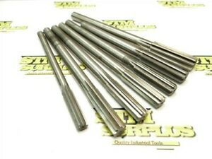 """LOT OF 7 ASSORTED HSS CHUCKING REAMERS 1/2"""" TO .7869"""" DIA AP 21CM"""
