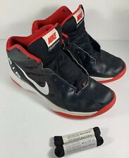 309a138bfe46 Nike Air Overplay IX Men s Basketball Shoe Size 8 Black Red  831572-004