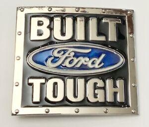 Chrome Ford Built Tough Truck Belt Buckle