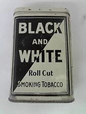 VINTAGE ADVERTISING TOBACCO BLACK AND WHITE VERTICAL POCKET TIN  664-P