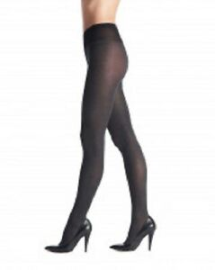 2 Pack Oroblu Colette Melange Opaque Tights 60, soft multifibre, black, XL=14-18