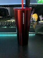 Starbucks Christmas Red Holiday Tumbler 2020 Stainless Steel 24oz Red Cold Cup
