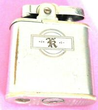 """Vintage RONSON Whirlwind Lighter - Made In USA """"K""""? """"R""""? monogram rustic look"""