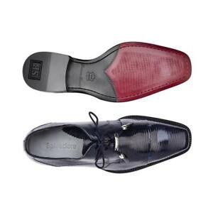 Belvedere Men's Dress Shoes Karmelo Genuine Lizard Navy Comfortable 1497