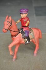 Rare Boggle Head Vintage Colorful Soldier On Horse Celluloid Toy , Japan
