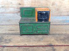 Vintage Pressed Steel Oven Green/Orange
