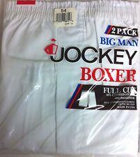 JOCKEY BIG MAN BOXERS--2 PACK--FULL CUT---SIZE 54--WHITE