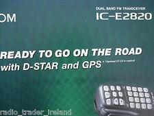 Icom-E2820 (authentique brochure seulement)... radio _ trader _ irlande.