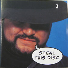 """""""STEAL THIS DISC 3"""" cd promo mint FRANK ZAPPA JIMI HENDRIX DAVID BOWIE BADFINGER"""