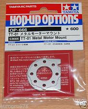 TAMIYA 53666 TT-01 Metallo MOTOR MOUNT (TT01/TT01D/TT01E/TT01ES/TT01R) Nuovo con imballo