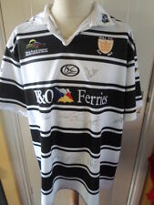 2008-09 Squad Signed Hull FC Rugby league Shirt adult by 25 coa (21492)
