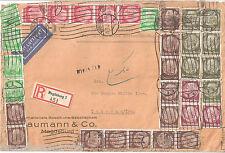 Deutsches Reich Luftpost Recommandé MiF Magdeburg via Baghdad - Teheran 26.11.38