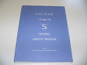 Shop Service Manual 63-68 Jaguar 3.4 & 3.8 S-type NEW