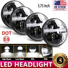 "4PCS 5 3/4"" 5.75"" CREE Projector LED Headlights Sealed Beam Halo Ring Lamp Bulbs"