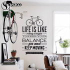 Bicycle Wall Stickers Bike Vinyl Decal Room Office Home Decoration Sticker