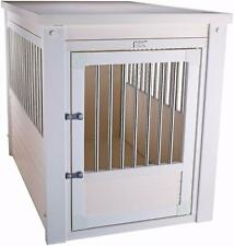 New Age Pet InnPlace Dog Crate / End Table - Medium , Antique White New