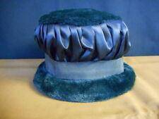 dd12ef459a9 Black Vintage Womens Ladies Bucket Style Winter Hat Pre Owned Faux Fur Smal  6.75
