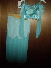 EUC Girls Size L 10 Disney Store 2pc Jasmine Costume Dress Up Halloween Aladdin