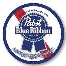 PABST BLUE RIBBON METAL SIGN - 24 INCH DIAMETER
