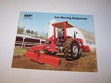 MASSEY FERGUSON MF 227 226 BLADE 18 SCRAPER MF1 POST HOLE DIGGER SALES BROCHURE