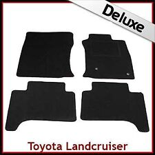 Toyota Land Cruiser Mk3 J120 2002-2009 Tailored LUXURY 1300g Car Mats BLACK