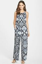 Marc New York by Andrew Marc NWT BLACK MULTI Printed Jumpsuit size S, L