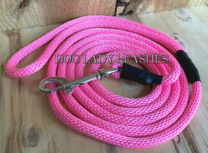 "SMALL DOG LEASH-UP TO 25 LBS-PINK-1/4"" X 6' LONG- NEW-  (108)"