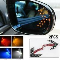 2PCS 14SMD Sequential LED Hidden Arrows Panel Car Side Mirror Turn Signal Lights