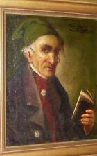 Antico Dipinto a olio Ritratto Toni Beyer Monaco circa 1900 Quadro Immagine