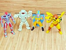 Lot of 4 Vtg Bandai MMPR Power Rangers Villains 90's Grumble Bee Eye Popping Guy