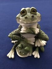 """Toads Frogs Figurine 3 1/4"""" Tall"""