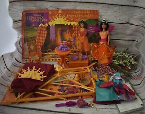 Disney Hunchback of Notre Dame Gypsy Esmeralda Doll Mattel & Festival Tent