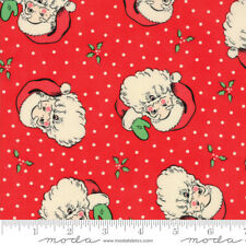 Swell Christmas Santa Laminated Cotton by the yard 44 inches wide Urban Chiks