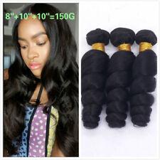 150g 3Bundles 8+10+10 INCH Virgin Brazilian Loose Wave Hair Unprocessed Hair