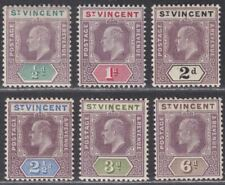 St Vincent 1902 King Edward VII Set to 6d Mint SG76-81