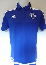 CHELSEA 2015/16 BLUE POLO SHIRT BY ADIDAS ADULTS SIZE MEDIUM  NEW WITH TAGS
