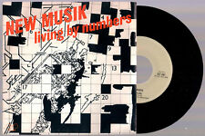 """NEW MUSIK LIVING BY NUMBERS + SAD FILMS 1979 GTO ITALY 7"""" 45 GIRI"""
