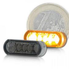 Universal Motorrad LED-Einbaublinker Blinker Heat getönt Paar mit Gehäuse