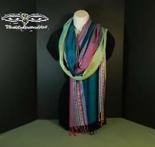 Nepalese Blue & Pink Colored Handloom Boarder Scarf Shawl Stole