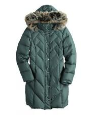 London Fog-  Women's Titanium Fux Fur Hooded Puffer Coat- Large