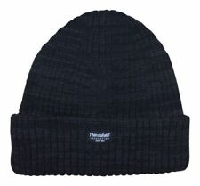 Mens Knitted Hat insulate Warm Winter Wooly Outdoor Chunky Thermal Beanie Ski