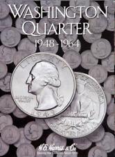 H.E. Harris Washington Quarter Coin Folder Book #2 1948-1964 #2689